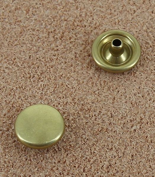 BOUTONS PRESSION EN LAITON VERNIS - DIAMETRE 8.8 mm