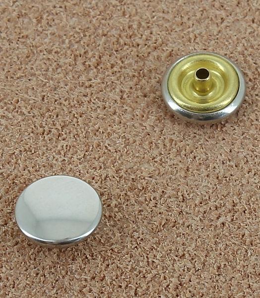 BOUTONS PRESSION LAITON NICKEL FREE - DIAMETRE 8.8 mm