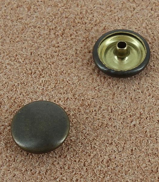 BOUTON PRESSION LAITON VIEUX BRONZE 10.5 mm