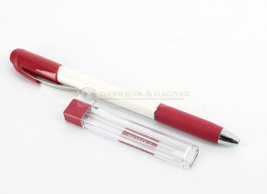 Crayon Craie Porte Mine Extra Fine + 6 Mines Blanches