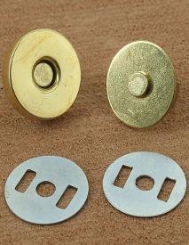Lot De 20 Fermoirs Magnétiques Boutons Maroquinerie avec Double Rivets